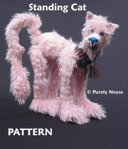 Standing Cat PATTERN with Double Jointed Head by Neysa A Phillippi Purely Neysa