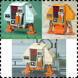3x-Silent-Running-Robot-Drone-DEWEY-HUEY-LOUIE-DIY-Handcraft-3D-Paper-Model-Kit