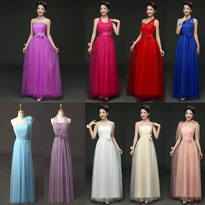 Multi Wear Women Formal Long Dress Wedding Bridesmaid Evening Party Maxi Gown