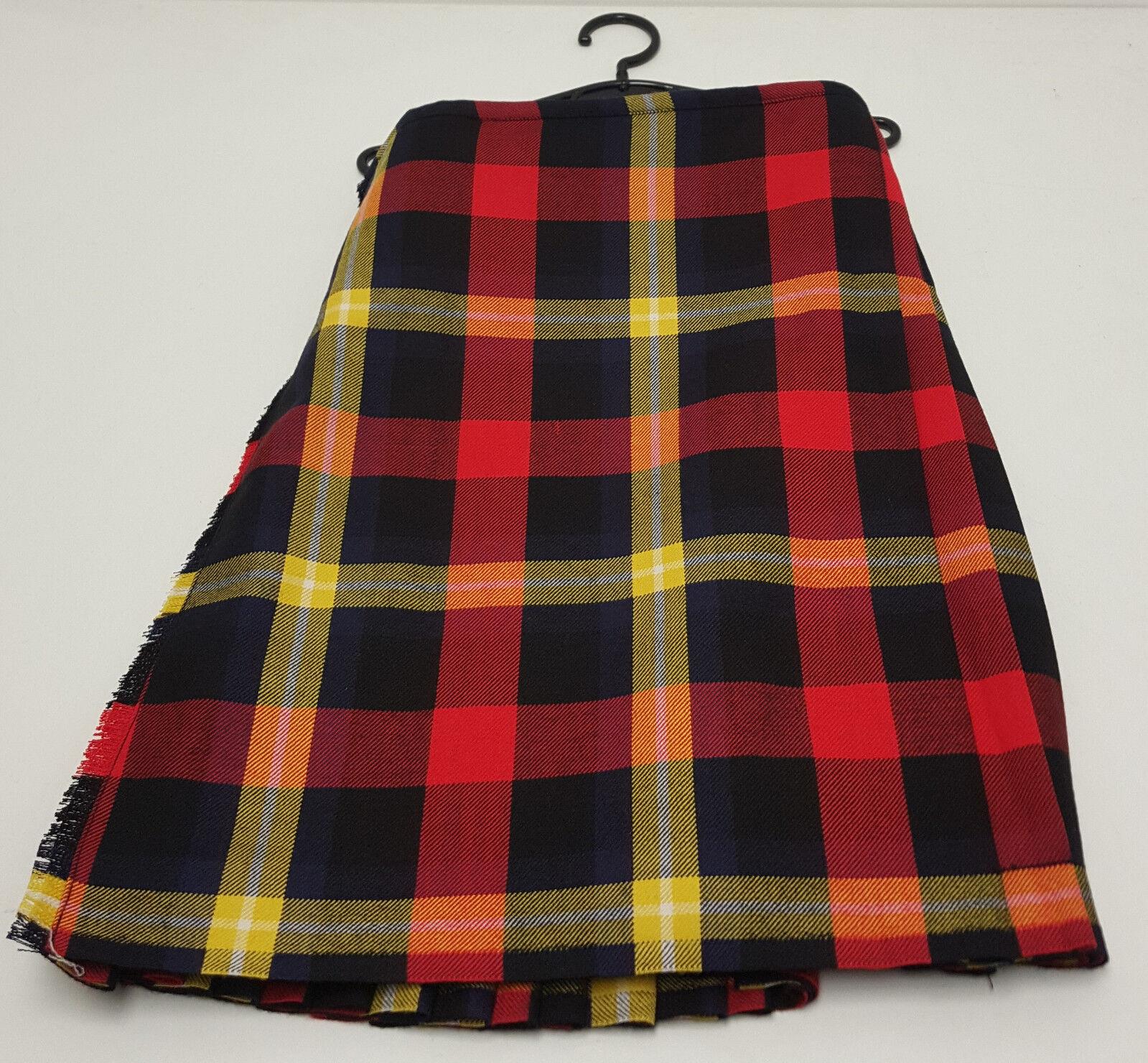 Strathwallace Tartan 8 Yard 100% Wool Kilt - Made in Scotland 44