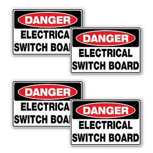 Details about Danger Electrical Switch Board sticker 4 pack 70mm quality  vinyl water & fade p