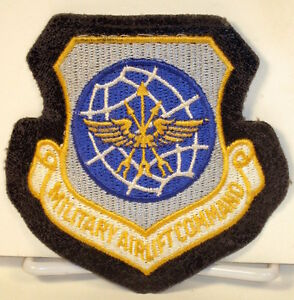 Details about USAF US Air Force Military Airlift Command Crest Badge Patch  A-2 Leather Jacket