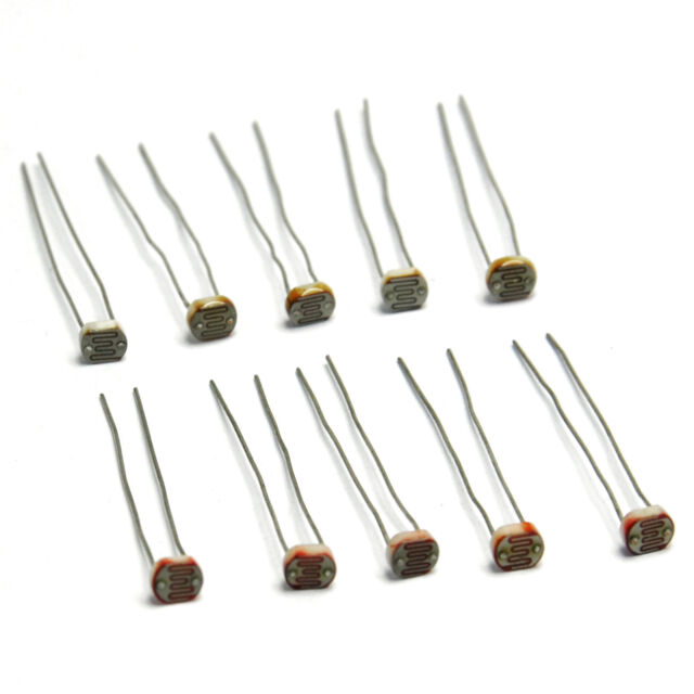 10PCS Photoresistor GL5537 GL5528 LDR Photo Light-Dependent Resistor new