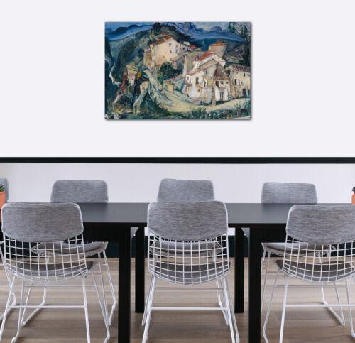 Lein-Wand-Bild Kunstdruck Chaim Soutine Blick auf Cagnes 1924//25 Impressionismu