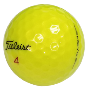24 Titleist Pro V1X 2019 Yellow Near Mint Used Golf Balls AAAA