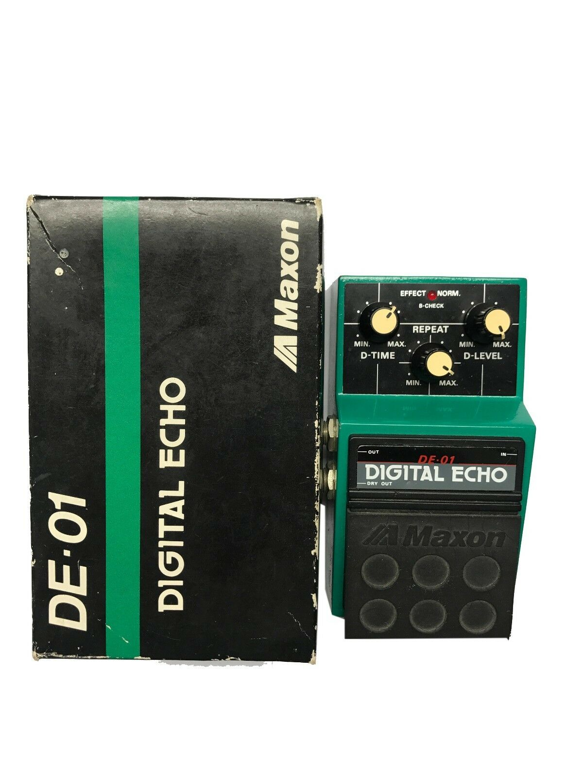 Maxon DE-01, Digital Echo, Made In Japan, 1980s, Original Boxing, Vintage Effect