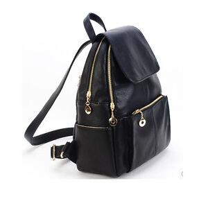 New-Women-Shoulder-Rucksack-School-Bag-Travel-Cute-Leather-Fine-Backpack-Satchel