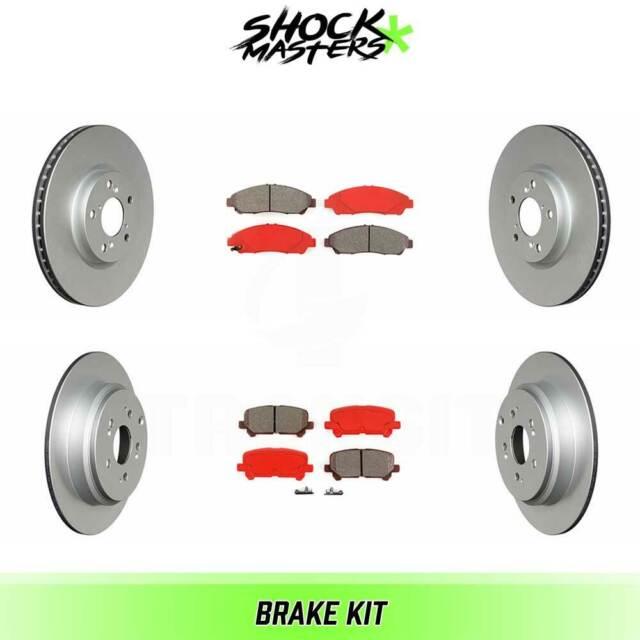 Front & Rear Semi Metalic Brake Pad & Rotors For 2007-2013