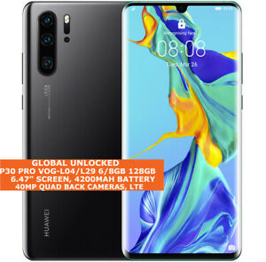 """HUAWEI P30 Pro VOG-L04/L29 6gb/8gb 128 Go Octa-Core 6.47"""" Android 10 LTE NFC"""