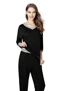 Ladies-Women-2Piece-Flannel-Pyjama-Pj-Cotton-Set-Nightwear-Nighty-Sleepwear-Soft