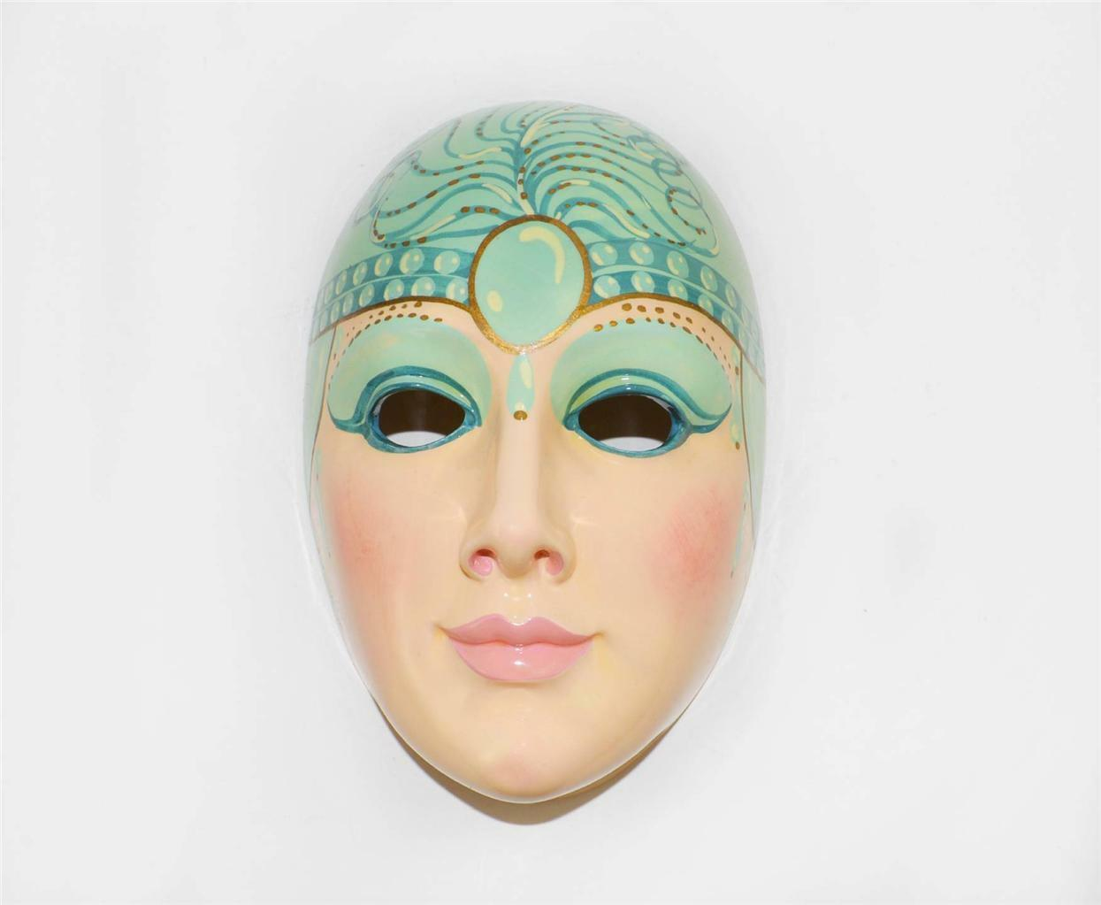 NEW ROYAL ORLEANS STONELITE ART DECO FACE WALL MASKby PAOLA BENSI 51 500