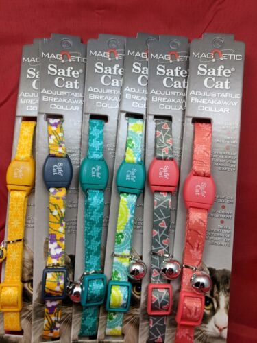 Personalized Embroidered Magnetic Breakaway Coastal Safe Cat Adjustable Collar
