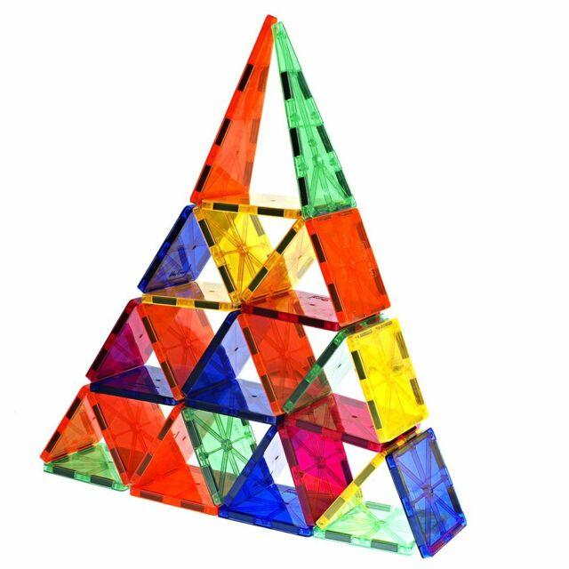 Mag-Genius Award Winning building Tiles Magnet Tiles Magnetic Block Set 60/pc