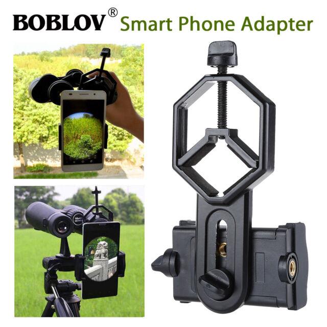 BOBLOV Cellphone Adapter Black Compact For Binocular Monocular Spotting Scope