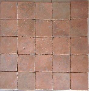Piastrelle In Cotto.Dettagli Su 25 Mattoni Cotto Antico Sicilia Piastrelle 18 5x18 5 Ceramiche Antiche Grezzi M2