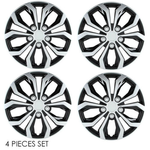 """FOR JEEP NEW 16/"""" ABS SILVER RIM LUG STEEL WHEEL HUBCAPS COVER 553"""