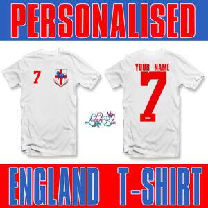 e7440003df8 Image is loading Kids-Personalised-England-2019-T-Shirt-Personalised-Ladies-
