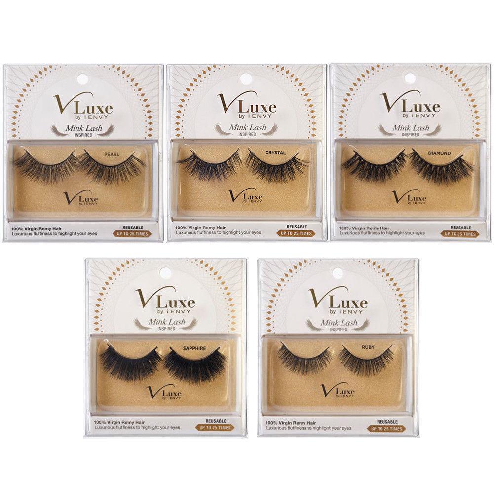 53f523240ff i ENVY® VLuxe Mink Lash 100% Virgin Remy Hair Eyelash Reusable Gold ...