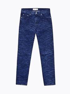 21c47ec245b6b KENZO x H&M Tiger Animal Print Patterned Jeans Pants Unisex 28 30 32 ...