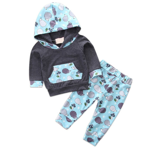Baby Girl Boy Toddler Hoodie Top Sweatshirt Pants Legging Clothes Outfits Winter