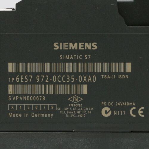 Siemens 6ES7 972-0CC35-0XA0 TSA-II ISDN