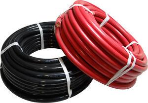 LOT DE 2 CABLE ELECTRIQUE H05V/H07V ROUGE ET NOIR ø 6 mm2