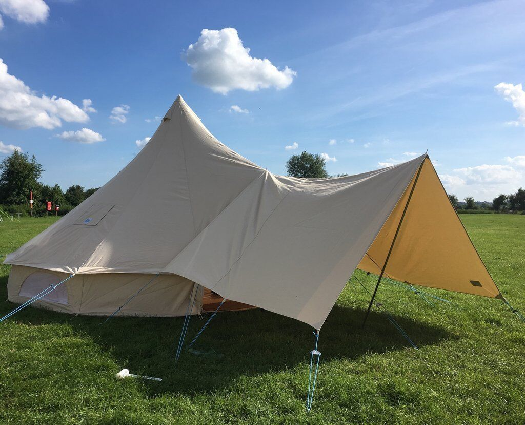 Medium Canvas Bell Tent Awning 360 x 240 -1 pole By Bell Tent Boutique -NOT TENT