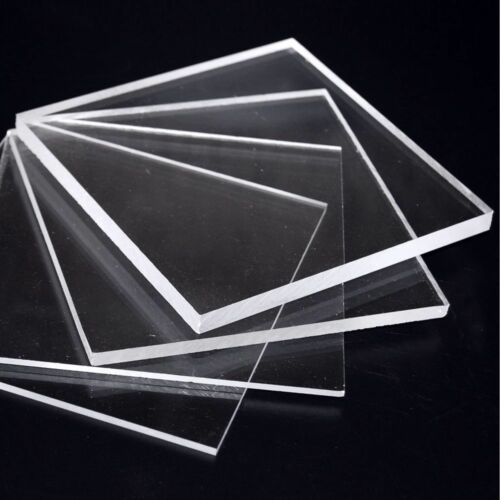 CLEAR LASER CUT PLASTIC SQUARES 3MM THICK ACRYLIC PERSPEX