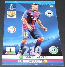 DANIEL ALVES FC BARCELONA Barça UEFA PANINI FOOTBALL CHAMPIONS LEAGUE 2014 2015