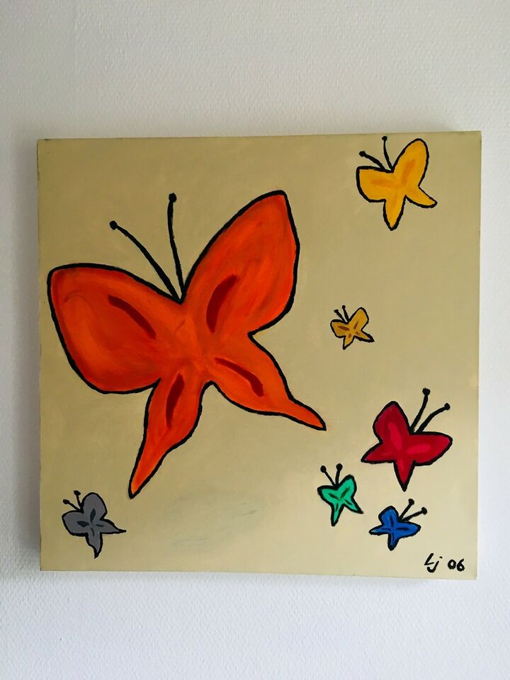 Akrylmaleri, LIsbeth Jensen , motiv: Dyr