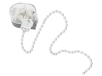 SILVER Ceiling Fan Lamp Wall Light Retro Pull Chain Cord Switch 3A 250V 6A 125V