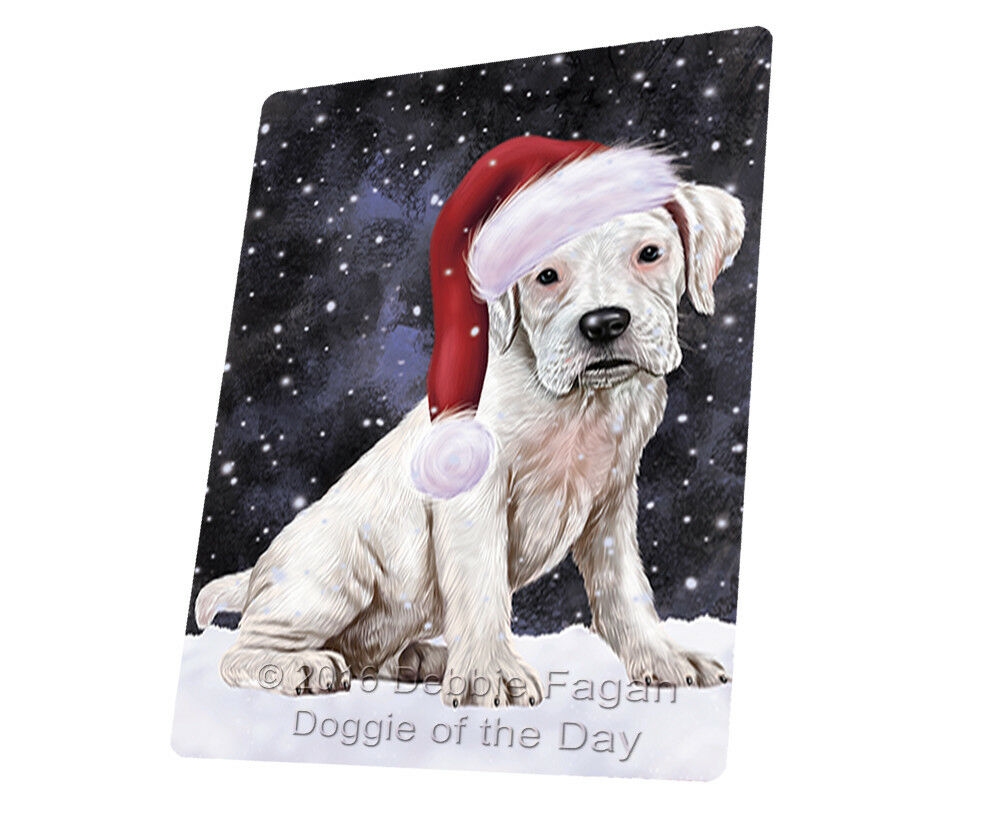 Let it Snow Christmas Holiday Boxers Dog Woven Throw Sherpa Blanket T376