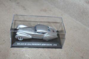 Ixo-Presse-1-43-Delage-D8-120-S-Pourtout-Aero-Coupe-1938