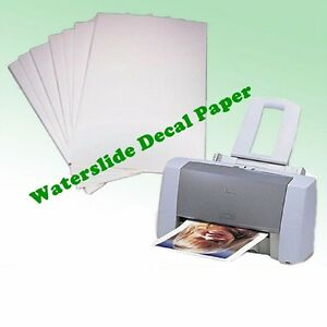 A4 waterslide transfer decal paper inkjet laser printer for Printer transfer paper for wood
