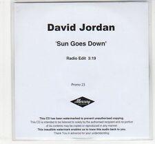 (EC714) David Jordan, Sun Goes Down - DJ CD