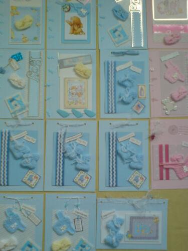 Tarjeta Adornos Bebé Botines Nuevo Bebé artesanía//decoración Unisex