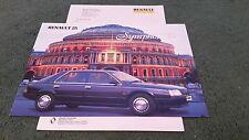 March 1988 Renault 25 SYMPHONY Special Edition UK COLOUR FOLDER BROCHURE +LETTER