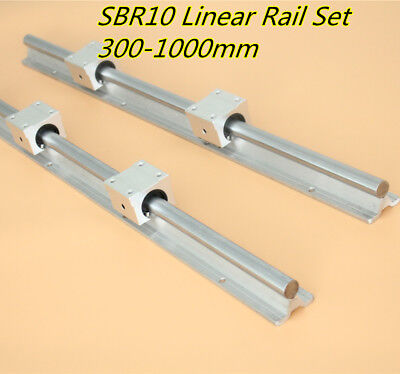 2X SBR10-1000mm 10MM FULLY SUPPORTED LINEAR RAIL /& 4 pcs SBR10UU Block Bearing