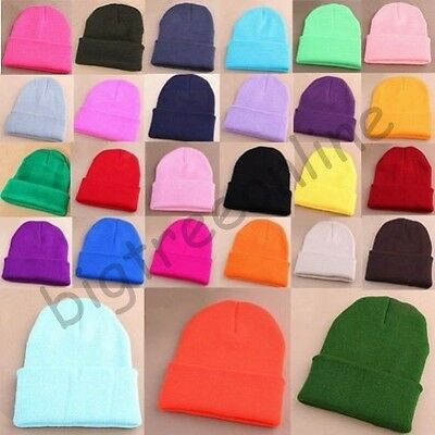 Pro Men's Women Beanie Knit Ski Cap Unisex Hip-Hop Blank Winter Warm Wool Hat