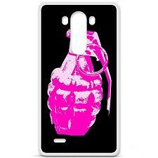 Coque housse étui tpu gel motif grenade rose LG G3 d830