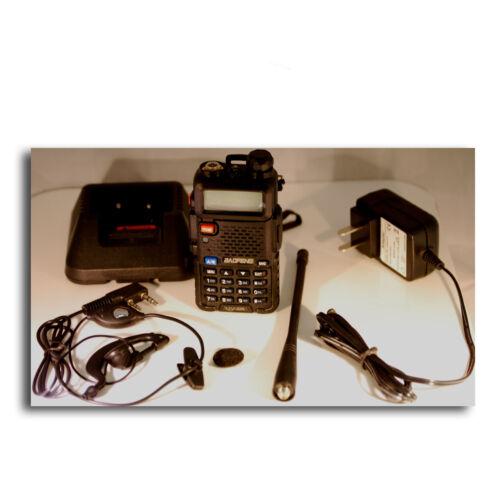 FM Radio Dual-Band Dual Display Transceiver WalkieTalkie Baofeng Black UV-5R V2
