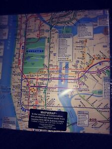 Nyc Subway Map Paper.Details About Nyc Mta Subway Maps Wrapping Paper