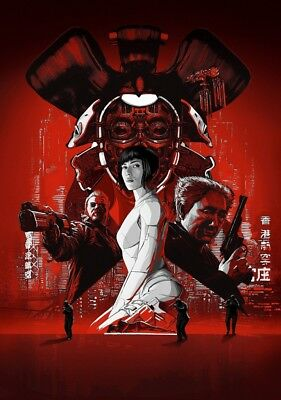 GHOST IN THE SHELL Movie PHOTO Print POSTER Film Scarlett Johansson Textless 006