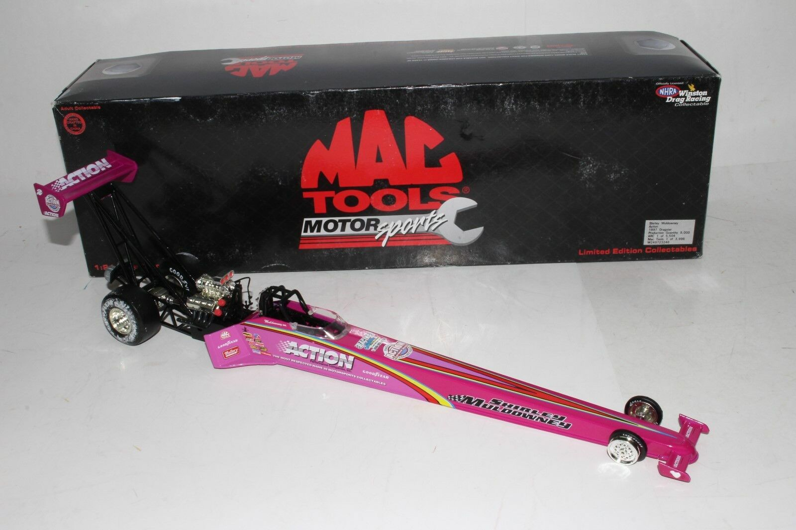 1997 Shirley Muldowney 1 24th Scale ActionTop Fuel Dragster with with with Box 9d67cc