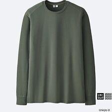 LEMAIRE 'U' x UNIQLO 'Performance DRY' L/S Designer T-Shirt Men's M Olive *NWT*