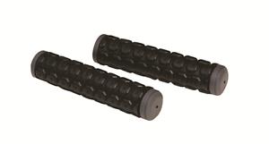 COPPIA-a-doppia-densita-MTB-qualsiasi-Bici-Grip-Manubrio-Lungo-125mm-Nero-con-estremita-Grigio