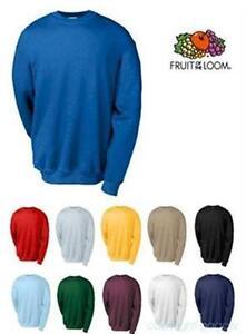 Details zu Fruit of the Loom Sweatshirt S M L XL XXL Pullover Sweat Pulli Neu