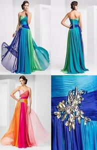 New-Sweetheart-Chiffon-Wedding-Dress-Bridesmaids-Formal-Dresses-Stock-Size-6-16