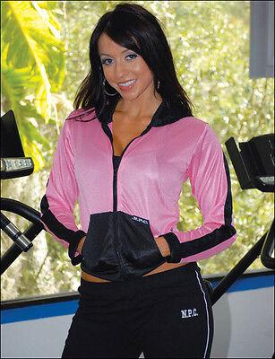 Womens Workout NPC Bodybuilding Wear Hooded Mesh Jacket Gym Clothing Cross Train