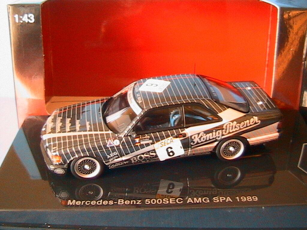 MERCEDES BENZ 500 SEC  6 W126 AMG SPA 1989 KONIG PILSENER AUTOART 68932 1 43